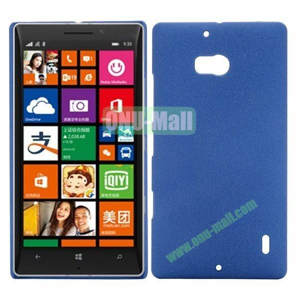 Solid Color Frosted Design Hard Case for Nokia Lumia 930 (Dark Blue)