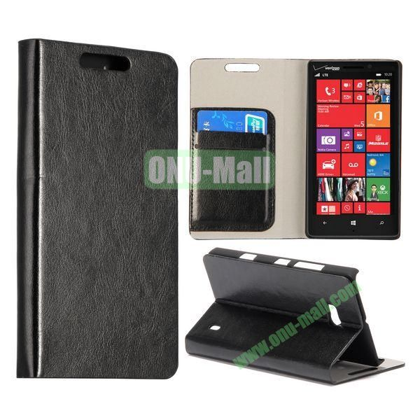 Crazy Horse Texture Flip Stand Leather Case for Nokia Lumia 929 (Black)
