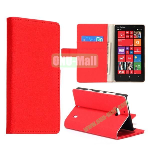 Gravel Pattern Flip Stand Leather Case for Nokia Lumia 929 (Red)