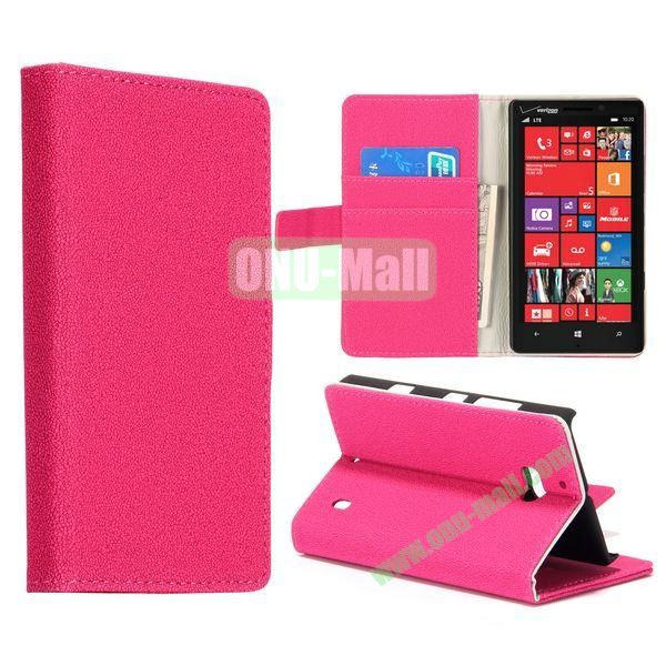 Gravel Pattern Flip Stand Leather Case for Nokia Lumia 929 (Rose)