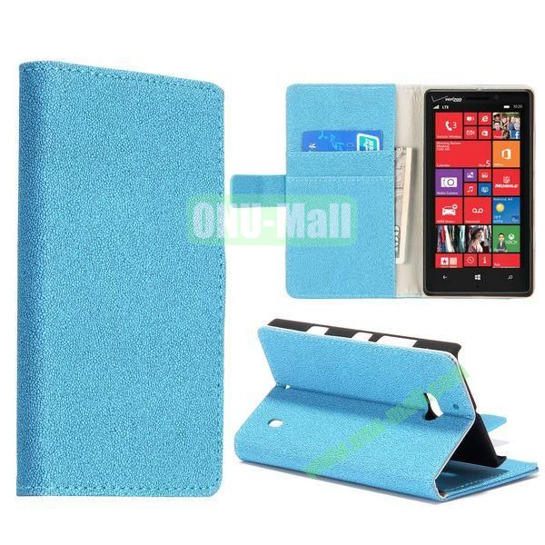 Gravel Pattern Flip Stand Leather Case for Nokia Lumia 929 (Blue)
