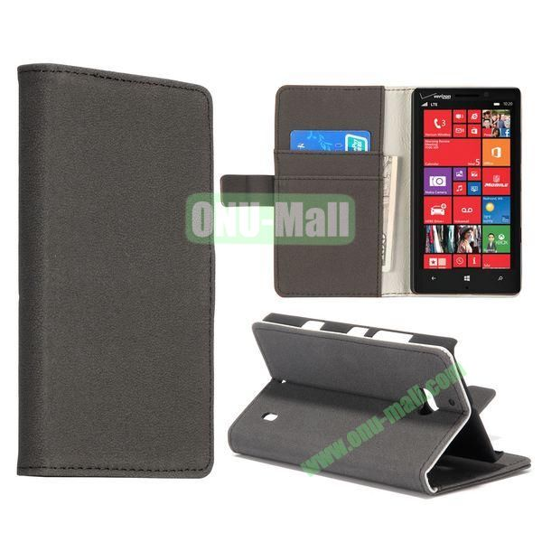 Gravel Pattern Flip Stand Leather Case for Nokia Lumia 929 (Black)