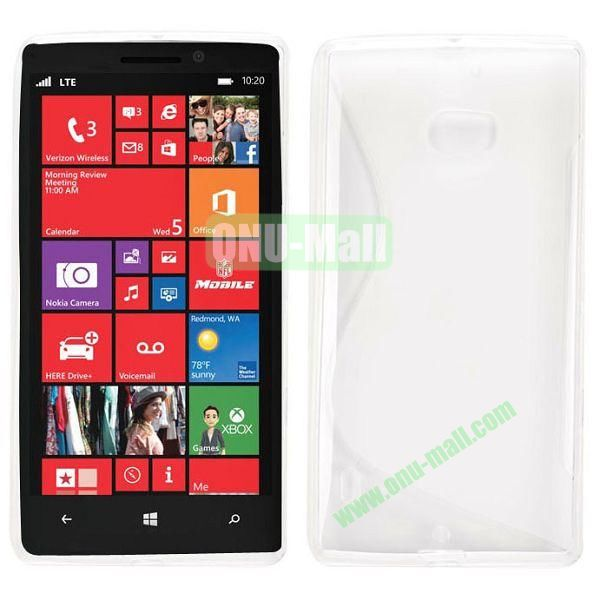 S Shape Design TPU Case for Nokia Lumia 929 (Transparent)