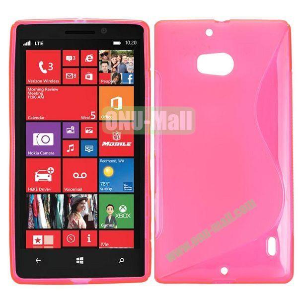 S Shape Design TPU Case for Nokia Lumia 929 (Pink)