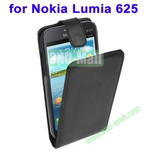 Wholesale Black Vertical Flip Leather Case for Nokia Lumia 625 (Black)