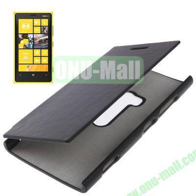 Horizontal Flip Leather Case for Nokia Lumia 920 (Black)