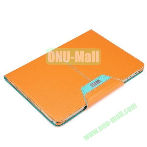 ROCK Excel Series Flip Leather Cover for Samsung Galaxy Note 10.1(2014 Edition) P600 (Orange)