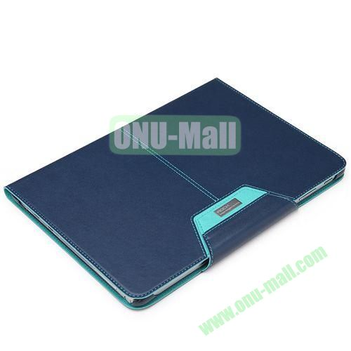 ROCK Excel Series Flip Leather Cover for Samsung Galaxy Note 10.1(2014 Edition) P600 (Dark Blue)