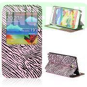 Flip Zebra Texture Leather Case for Samsung Galaxy Note 3 N9000 (Pink)