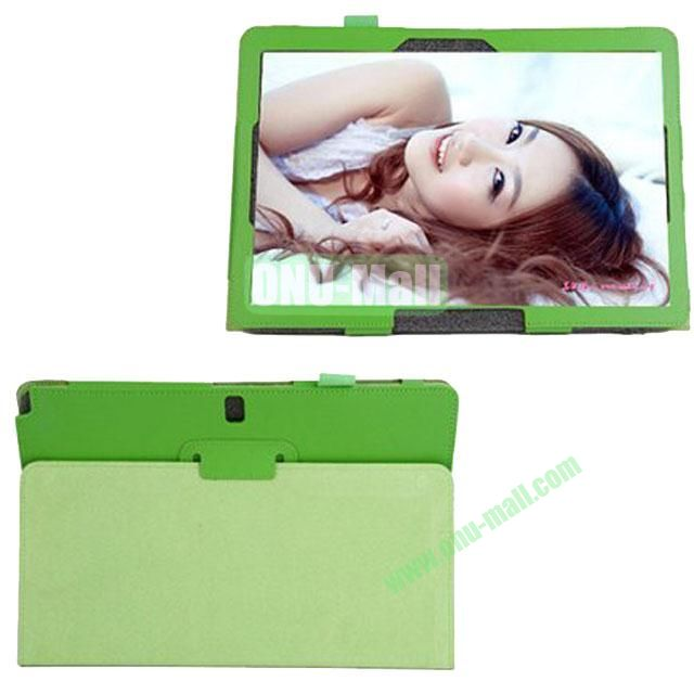Litchi Texture Leather Smart Cover for Samsung Galaxy Note Pro 12.2 P900 with Stand (Green)