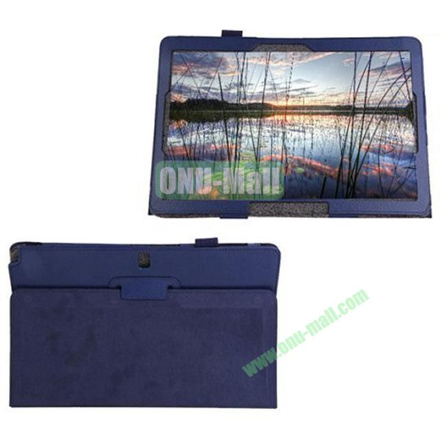 Litchi Texture Leather Smart Cover for Samsung Galaxy Note Pro 12.2 P900 with Stand (Blue)