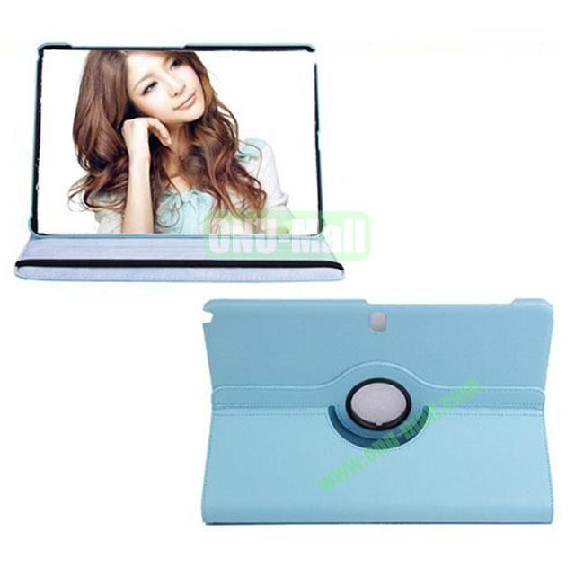 360 Rotating Litchi Texture Leather Smart Cover for Samsung Galaxy Note Pro 12.2 P900 with Stand (Blue)