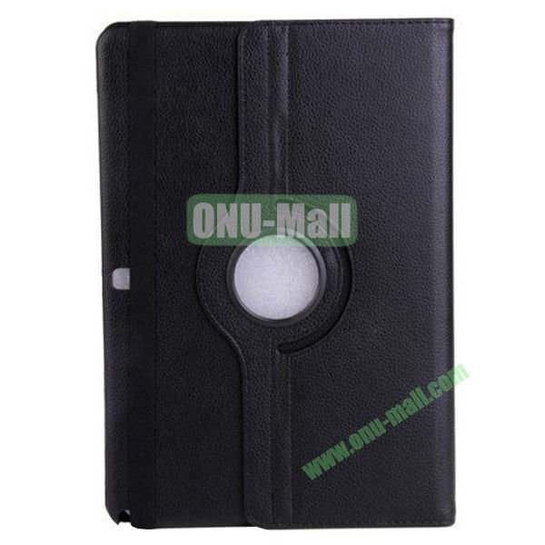360 Rotating Litchi Texture Leather Smart Cover for Samsung Galaxy Note Pro 12.2 P900 with Stand (Black)