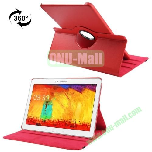 360 Rotating Litchi Texture Leather Smart Cover for Samsung Galaxy Note Pro 12.2 P900 with Stand (Red)