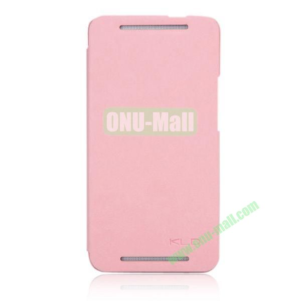 KLD England Series Flip Crazy Horse Texture Leather Case for HTC One M7  801e (Pink)