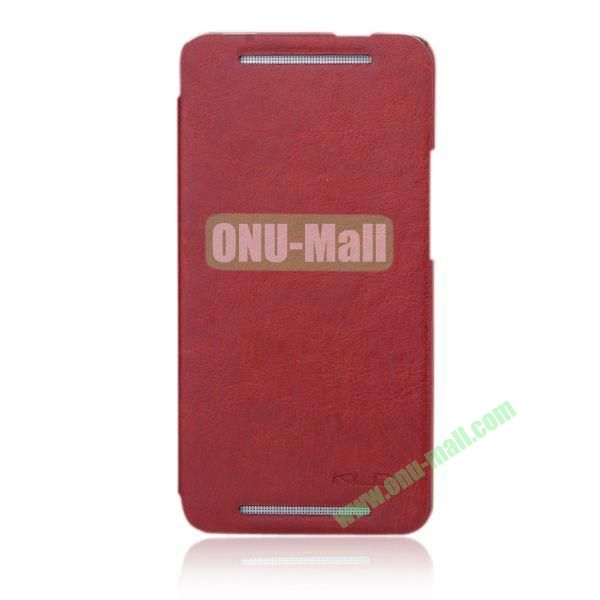 KLD England Series Flip Crazy Horse Texture Leather Case for HTC One M7  801e (Brown)