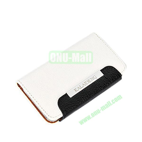 KLD Fresh Style Wallet Design Flip Stand Leather Case for HTC One M7  801e (White)