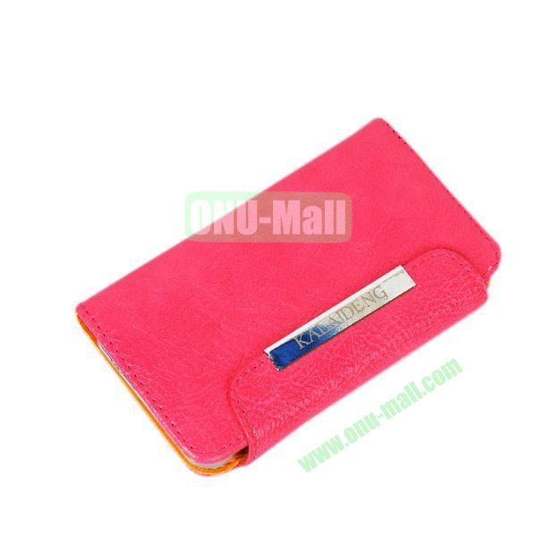 KLD Fresh Style Wallet Design Flip Stand Leather Case for HTC One M7  801e (Rose)
