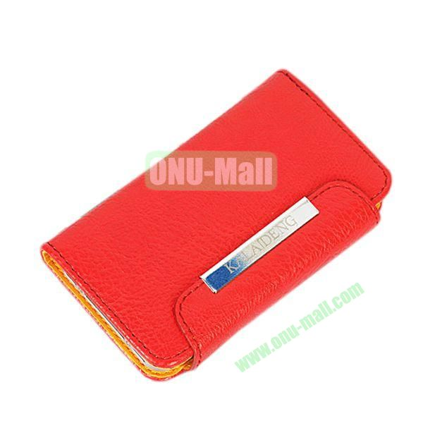 KLD Fresh Style Wallet Design Flip Stand Leather Case for HTC One M7  801e (Red)