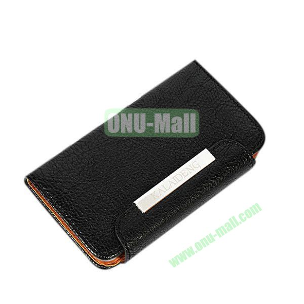 KLD Fresh Style Wallet Design Flip Stand Leather Case for HTC One M7  801e (Black)