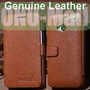 K-cool Litchi Texture Magnetic Flip Genuine Leather Case for HTC One M7  801e with Card Slots (Brown)