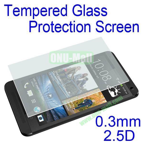 0.3mm 2.5D Tempered Glass Protection Screen Protector for HTC One M7