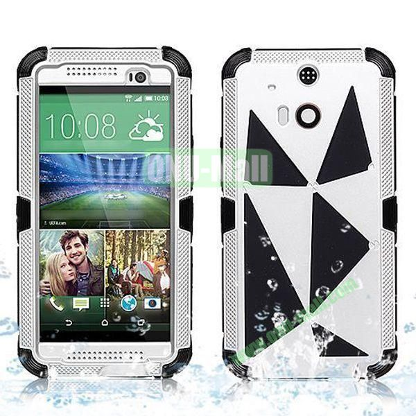 Hot Sale High Quality Waterproof Case  for HTC One M8 One 2 (White+Silver)
