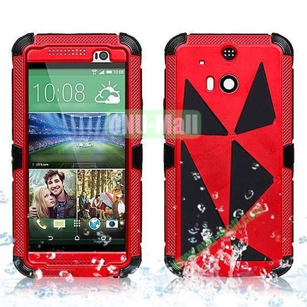 Hot Sale High Quality Waterproof Case  for HTC One M8 One 2 (Red)