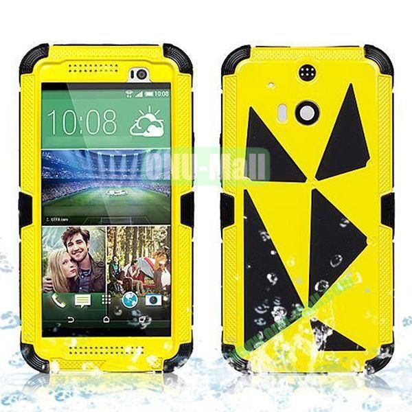 Hot Sale High Quality Waterproof Case  for HTC One M8 One 2 (Yellow)