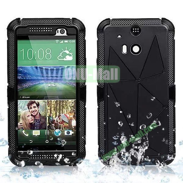 Hot Sale High Quality Waterproof Case  for HTC One M8 One 2 (Black)