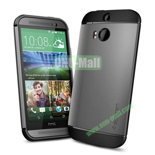 Slim Armor 2 in 1 Style Hard Case for HTC One M8  One 2 (Grey)
