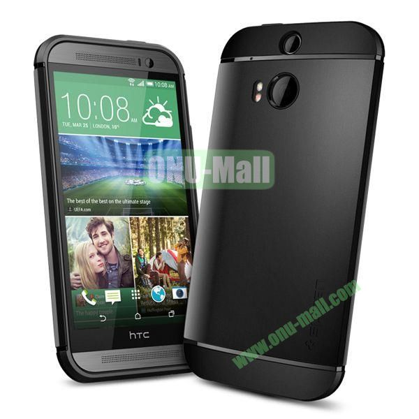 Slim Armor 2 in 1 Style Hard Case for HTC One M8  One 2 (Black)