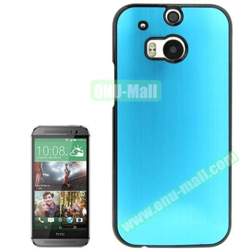 Brush Texture Plastic Hard Case for HTC One M8 (Baby Blue)