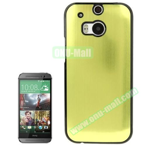 Brush Texture Plastic Hard Case for HTC One M8 (Lime)