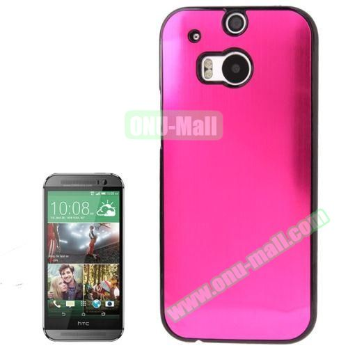 Brush Texture Plastic Hard Case for HTC One M8 (Rose)