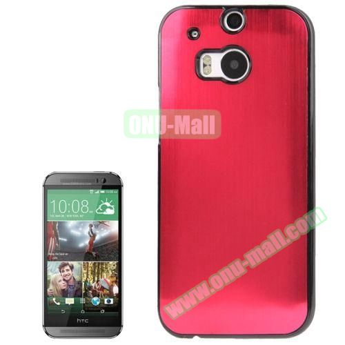 Brush Texture Plastic Hard Case for HTC One M8 (Red)