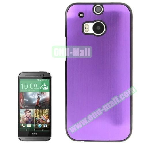 Brush Texture Plastic Hard Case for HTC One M8 (Purple)