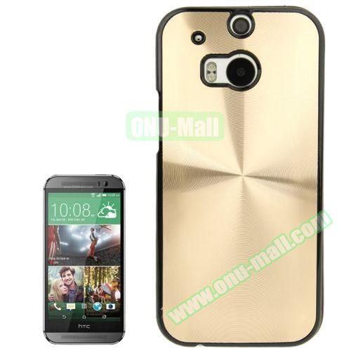 CD Texture Plastic Hard Case for HTC One M8 (Gold)