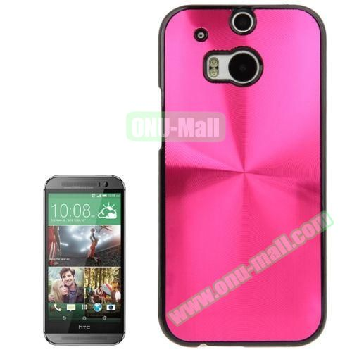 CD Texture Plastic Hard Case for HTC One M8 (Rose)