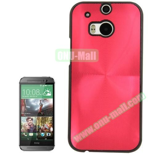 CD Texture Plastic Hard Case for HTC One M8 (Red)