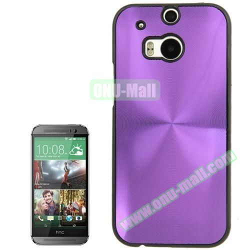 CD Texture Plastic Hard Case for HTC One M8 (Purple)