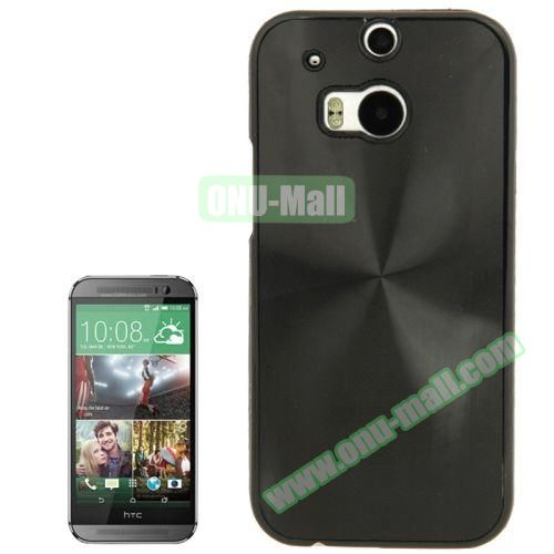 CD Texture Plastic Hard Case for HTC One M8 (Black)