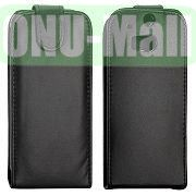 Vertical Flip Magnetic Leather Case for HTC One M8  One 2 (Black)