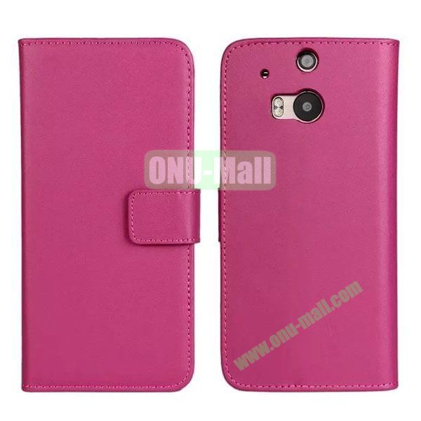 Hot Sale Genuine Leather Case for HTC One M8  One 2 (Rose)