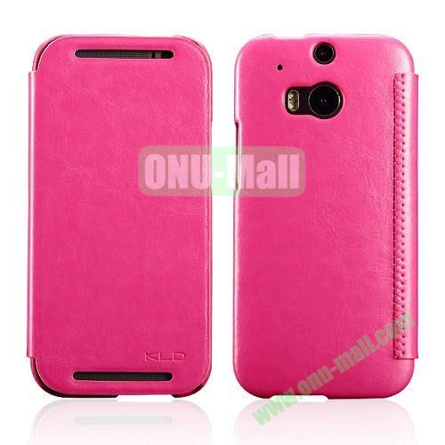 KLD Enland Series Flip Crazy Horse Texture Leather Case for HTC One M8  One 2 (Rose)