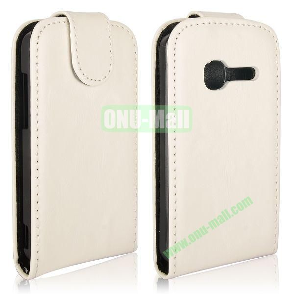 Vertical Flip Magnetic Leather Case for Alcatel One Touch TPOP OT4010 (White)