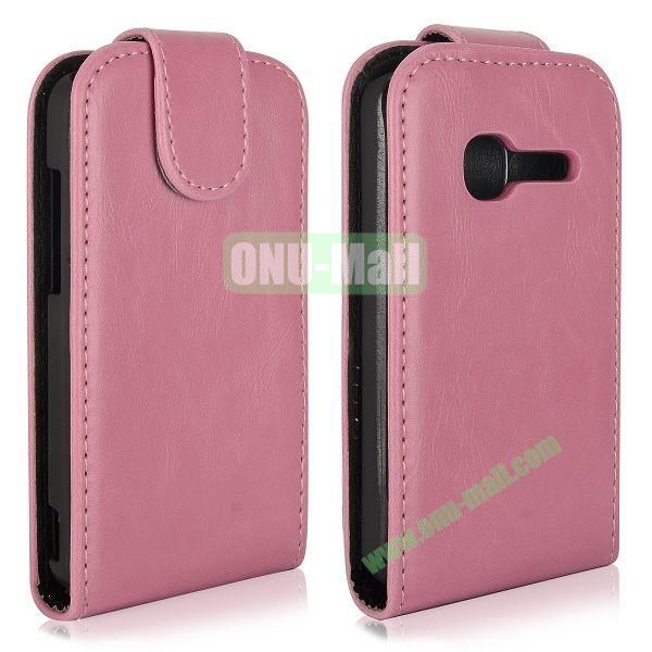 Vertical Flip Magnetic Leather Case for Alcatel One Touch TPOP OT4010 (Pink)