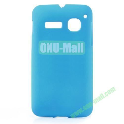 Ultraslim Oil Coated Hard Case For Alcatel One Touch SPOP OT4030D OT4030 (Light Blue)
