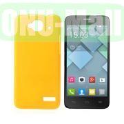 Simple Design Coated Oil Hard Case for Alcatel One Touch Idol Mini  OT-6012X  OT-6012W (Yellow)