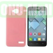 Simple Design Coated Oil Hard Case for Alcatel One Touch Idol Mini  OT-6012X  OT-6012W (Pink)